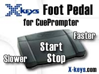 Foot pedal control